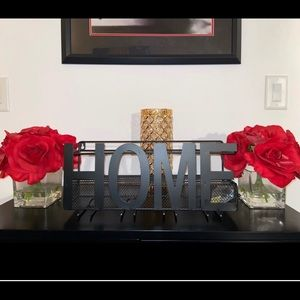 "Decorative Wine Glass Holder ""Home"" Wall Art"